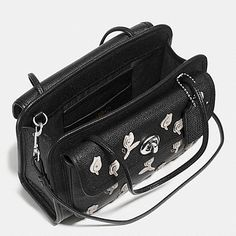 CADY CROSSBODY IN FLORAL APPLIQUE LEATHER