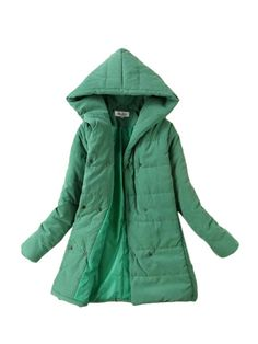 Double Breasted Solid Warm Hooded Winter Coat & Jackets / Coats - at Jollychic