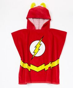 Another great find on #zulily! Red The Flash Terry Hooded Poncho - Boys by DC Comics #zulilyfinds