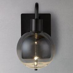 Buy John Lewis Dano Ombre Lustre Single LED Wall Light, Clear/Black Online at johnlewis.com