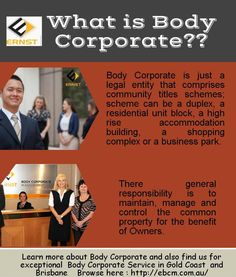 Find more about body corporate management in Gold Coast and Brisbane.