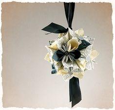 Kusudama Origami paper flower bouquet