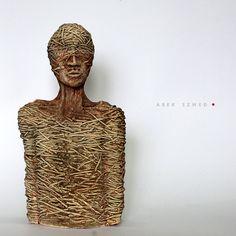 I'm not/Ceramic Sculpture/ Unique Ceramic Figurine by arekszwed