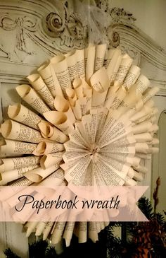 Frugal Furbishing: Hot right now: Paper book wreath