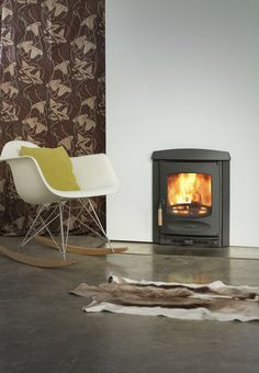 Kernow Fires Charnwood inset to replace an open fire wood burning stove installation in Cornwall. Wood, Traditional Fireplace, Simple Fireplace, Insert Stove, Inset Fireplace, Inset Stoves, Solid Fuel Stove, Rocking Chair, Wood Burning