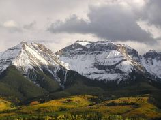 San Juan Mountains from Miller Mesa near Ridgway, Colorado - I learned that Mesa means table in Spanish there. :)