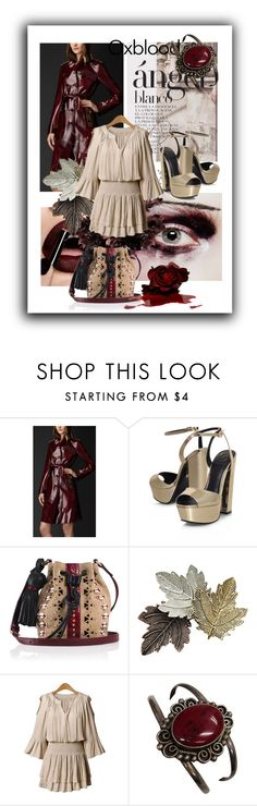 """""""Oxblood"""" by kari-c ❤ liked on Polyvore featuring Burberry, KG Kurt Geiger, Tamara Mellon and oxblood"""