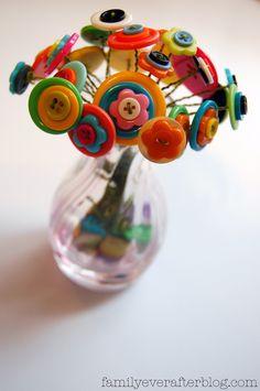 button boquet | Button Flower Bouquet