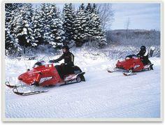 #pinadream - Dream Adenture, Snow Mobile on the snow mobile trail - fun!
