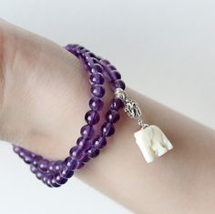 $48.3 SKU: 696165 #MrTree #Jewelry #JewelryDIY #Bracelets --- Materials:Amethyst + S925 + Bone / Size:Length: 17cm http://www.pinterest.com/boutiques  - keywords: natural jewelry, costume jewelry watches, jewelry bags, purchase jewelry online, jewelry holders,