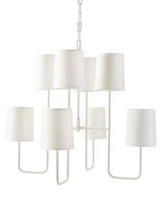 Elegant in its simplicity, this is one of those design elements that catches the eye and never goes out of style. Slender arms keep things light.