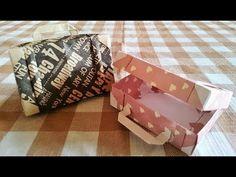 【実用使い】折り紙2枚でトランクみたいなギフトボックス - YouTube