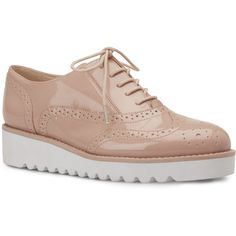 Nine West Whenever Lace-Up Oxfords ($90) ❤ liked on Polyvore featuring shoes, oxfords, nine west shoes, nine west, oxford lace up shoes, wingtip oxfords and wing tip shoes