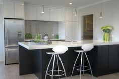 Sleek and refined look in this kitchen
