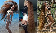 Daria Gubanova, 27, from Barnaul, Russia, began growing her hair 14 years ago after a friend bet her she wouldn't be able to get it long enough to braid it.