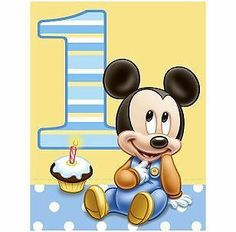 1st Birthday Mickey Mouse Edible Custom Icing Party Cake Decoration Image Topper | eBay