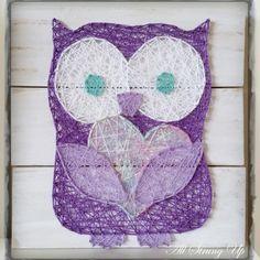 Owl Heart String Art