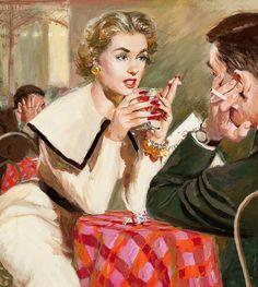 1950s pulp art by Jim Schaeffing.