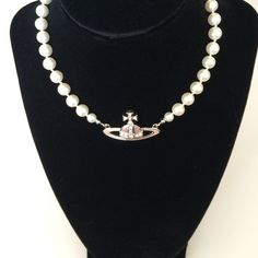 7c804325af SALE ❗️Vivienne Westwood Pearl Choker The Mini Bas Relief Choker forms part  of the Vivienne Westwood collection where the Orb and Saturn ring is part  of ...