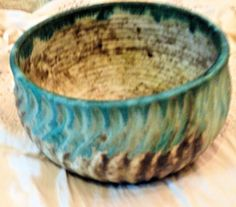 Large Round McCarty Pottery MUM Pot / Bowl ..Swirl Pattern..Jade Color & mccarty pottery | McCarty dinner plate | I have a thing for pottery ...