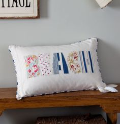 Taylor Linens Beach Pillow - just change the colors to ones perfect for K's room