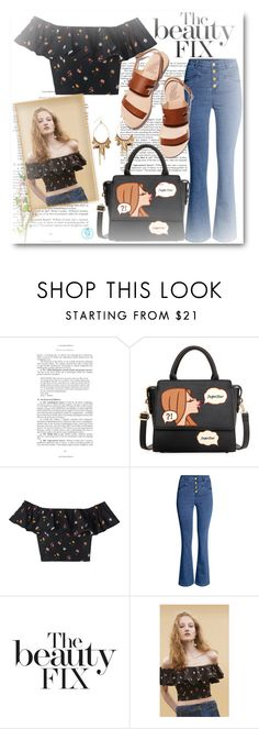 """""""Super Star"""" by queenvirgo ❤ liked on Polyvore featuring Rebecca Taylor, H&M, Ancient Greek Sandals and BillyTheTree"""