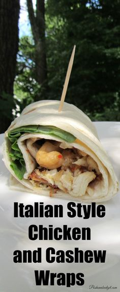 Italian Style Chicken and Cashew Wraps Sugar Free Recipes, Low Carb Recipes, Great Recipes, Cooking Recipes, Favorite Recipes, Healthy Recipes, Yummy Chicken Recipes, Yum Yum Chicken, Wrap Sandwiches