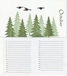 Calendar Card Keeper by - Cards and Paper Crafts at Splitcoaststampers Card Organizer, Organizers, Calendar, October, Paper Crafts, Cards, Planners, Tissue Paper Crafts, Paper Craft Work