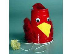 preschool chicken craft | little red hen kids will enjoy making this plastic chicken cluck