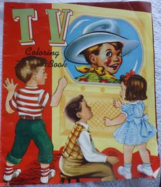 Vintage TV Coloring Book -- Here Come the Marines -- 1951