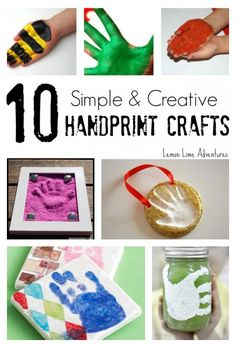 10 Simple Handprint Crafts  | These are SOO CUTE! Perfect for Grandparents Day!