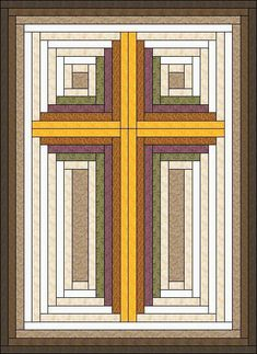 Log Cabin built Christian Cross Pattern