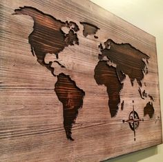 I took the path less traveled by, And that has made all the difference.  How will you customize your world map? Shop HowdyOwl! Map shown starts at $80 World Map Decal, World Map Wall Art, World Map Poster, Art World, Wood Wall Art, Wood Walls, Wood Wall Decor, Worldmap, Cnc