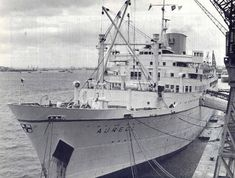 Aureol in Southampton towards the end of her EDL days. Always known as the mailboat she and the Accra and the Apapa were an integral part of post-war colonial and independent West Africa. I can see her now on Apapa quay.