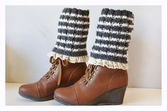Hey, I found this really awesome Etsy listing at https://www.etsy.com/listing/167042166/striped-boot-cuffs-women-leg-warmers