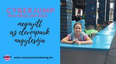 Cyberjump trambulinpark, szórakozás, játszóház, rózsaszín szemüveg