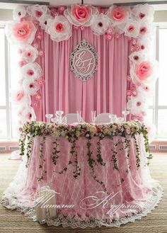 Party decorations on pinterest balloon decorations for Baby shower stage decoration