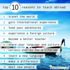 Top 10 Reasons to Teach Abroad