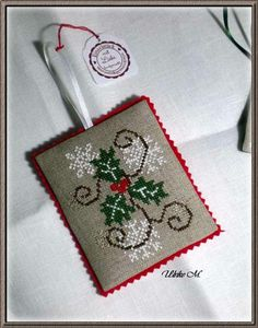 Finished Ornament on Blog- cross stitch pattern on Gazette94.blogspot.com