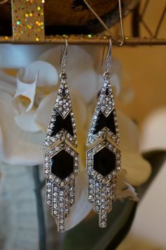 Darling Art Deco Swarvoski Crystal Chandelier Earrings, Dangle Earrings, Crystal Earrings, Wedding Jewelry, Bridal Earrings, Swarvoski