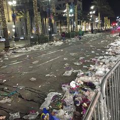 Look at the streets after tonight's parade! I'm exhausted! Cold and tired and have enough beads for the rest of my life! Lol #beads #mardi #mardigras #bacchus #bacchusparade  #parades #parade #canalstreet #canal #frenchquarter #nola #neworleans #no #crazy #party #calmafterthestorm #wrecked #mardigras2016 by danadane0610