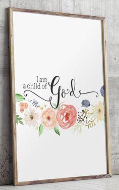 Baby girl nursery quote print Bible verse art by TwoBrushesDesigns #nurseryprints