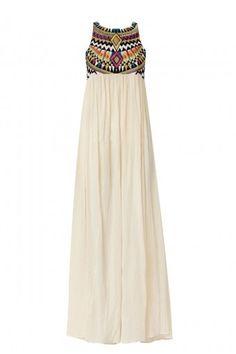 Tribal craft long maxi dress