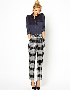 ASOS Premium Trousers In Check