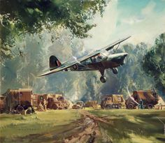 BBC - Your Paintings - Auster over RAF Advanced Observation Post, France