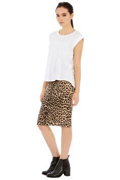 animal pencil skirt