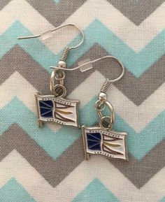 Enamel Red Blue White NEWFOUNDLAND & LABRADOR Flag Earrings | Etsy Etsy Earrings, Dangle Earrings, Newfoundland And Labrador, Fish Hook Earrings, Red White Blue, Happy Shopping, Jewerly, Dangles, Handmade Items