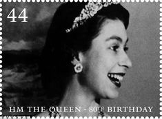 A profile of the Queen attending a State Banquet at Rideau Hall in Ottawa on a visit to Canada in 1951 featured on one of the 44p stamps from 2006