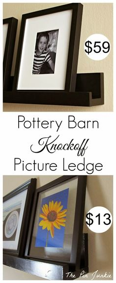 diy picture ledges, diy pottery barn decor, potteri barn, pictur ledg, diy potteri, barns, barn pictur, diyhom idea, pottery barn diy