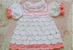 See how to make infant dress with pattern. - Knitting Yarn Patterns
